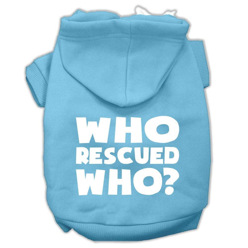 Who Rescued Who Screen Print Pet Hoodie