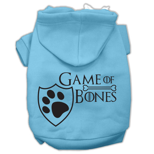 Game of Bones Screen Print Dog Hoodie