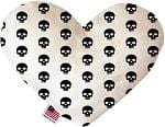 Skulls Stuffing Free Heart Dog Toy
