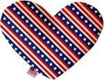 Stars and Stripes Stuffing Free Heart Dog Toy