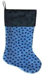 "Baby Blue Skulls 18"" Velvet Christmas Stocking"