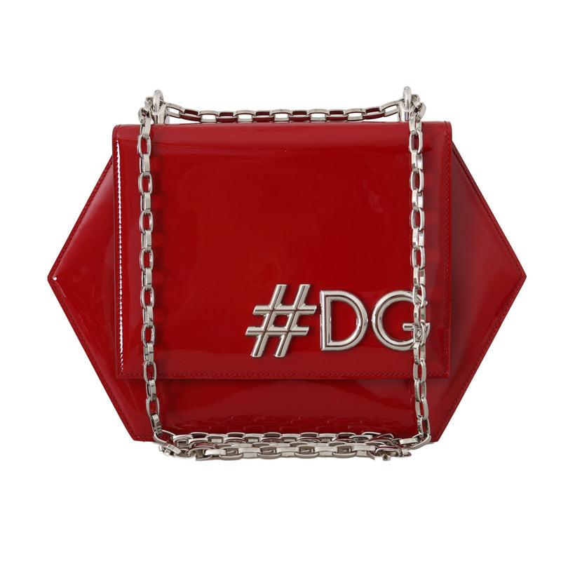 Red Patent Leather Shoulder #DG Clutch Bag