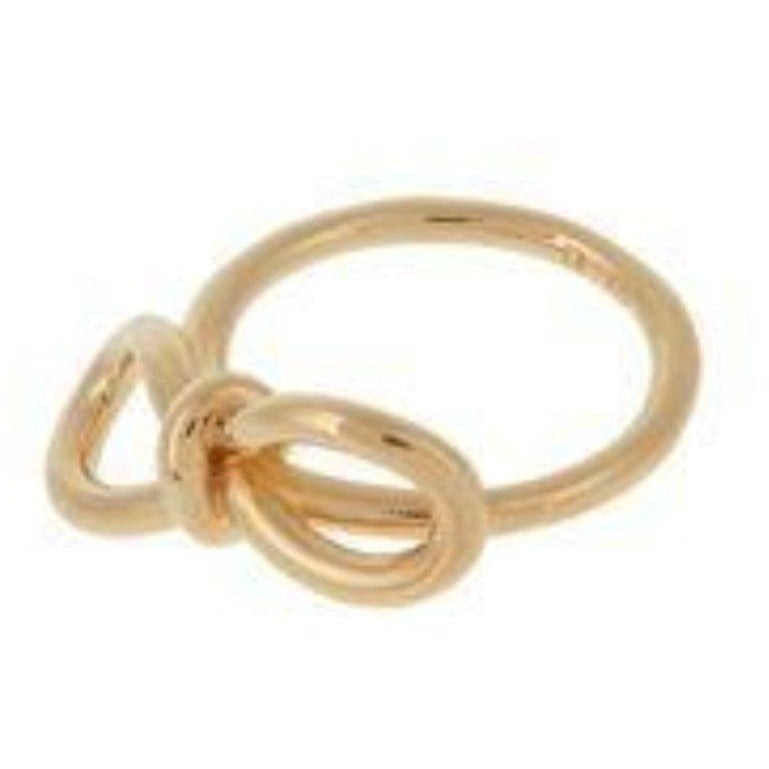 Balenciaga Classic Gold Bow Luxury Ring Size 7 381231 Jewelry Balenciaga