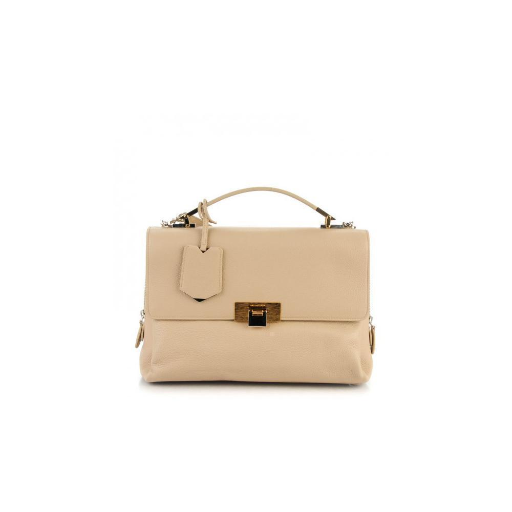 Balenciaga Classic  Women's Veau Effet Graine Beige Leather Luxury Bag 391568
