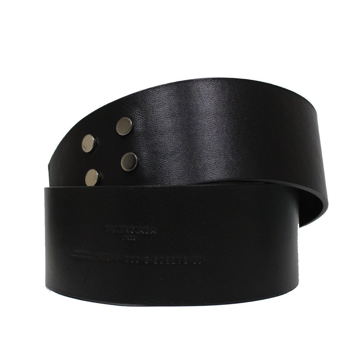 Balenciaga Unisex Couture Wide Leather Waist Belt Size: 90/36 365358 Belts Balenciaga