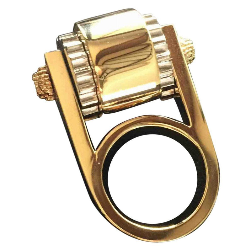 Balenciaga Women's Large Luxury Gold Ring Size: 6 328005