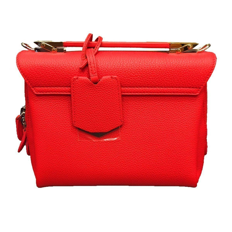 Balenciaga Women's Rogue Le Dix Red Leather Luxury Crossbody Handbag 391571 Handbags Balenciaga
