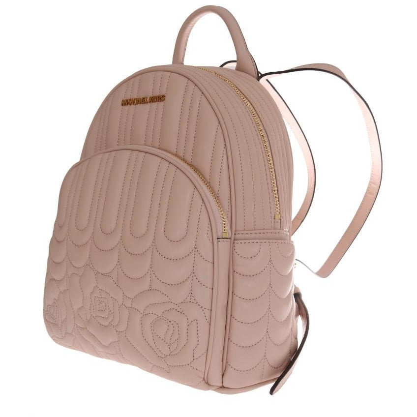 Beige ABBEY Leather Backpack Michael Kors
