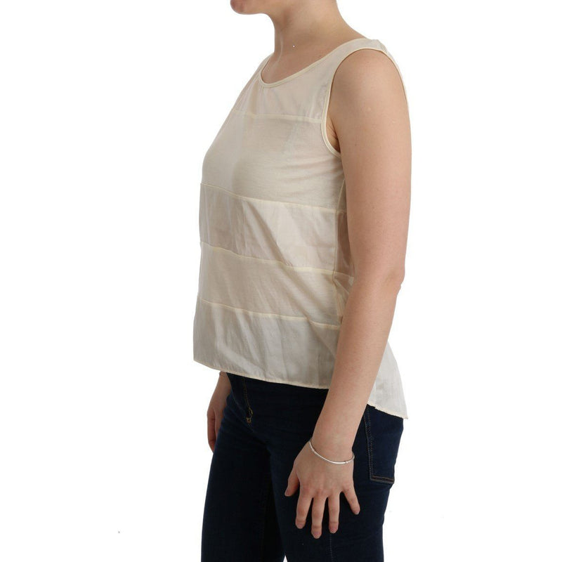 Beige Asymmetric Top Blouse