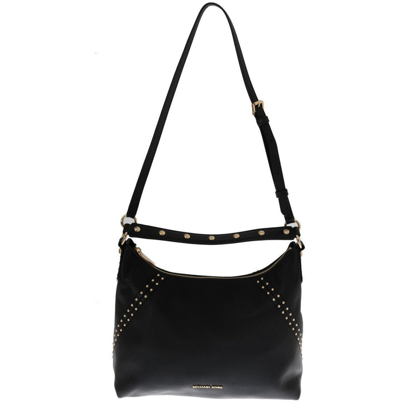 Black ARIA Leather Shoulder Bag Michael Kors