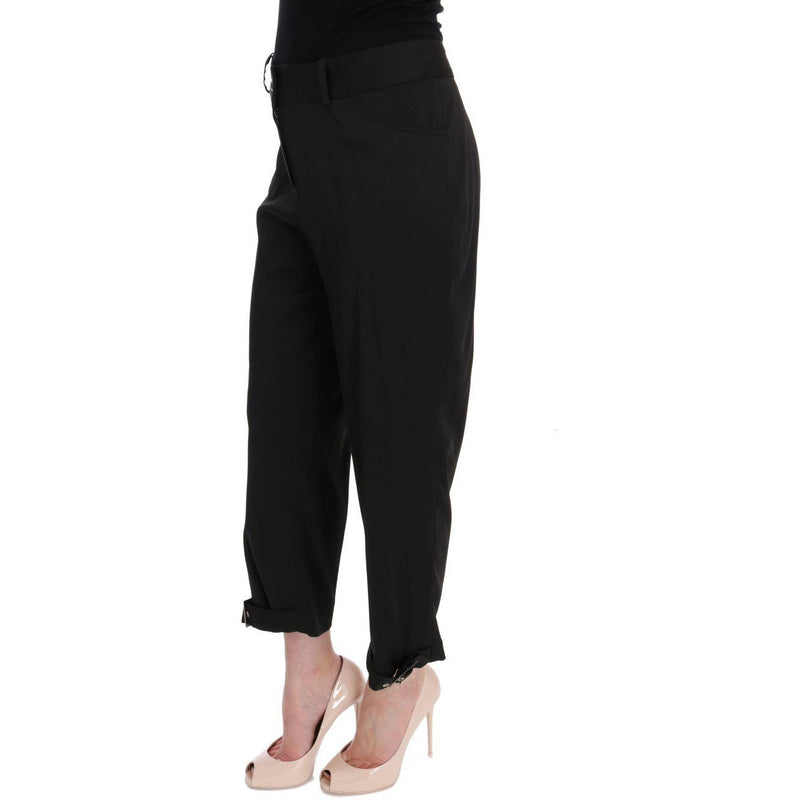 Black Cotton Capri Dress Pants BENCIVENGA
