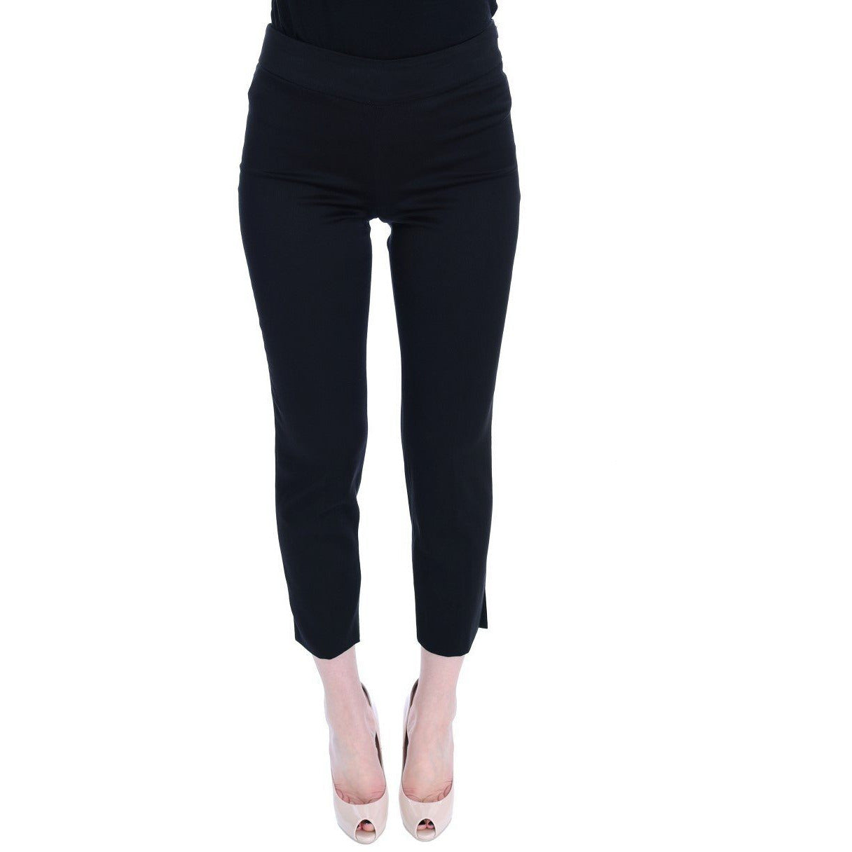 Black Cotton Stretch Capri Dress Pants BENCIVENGA
