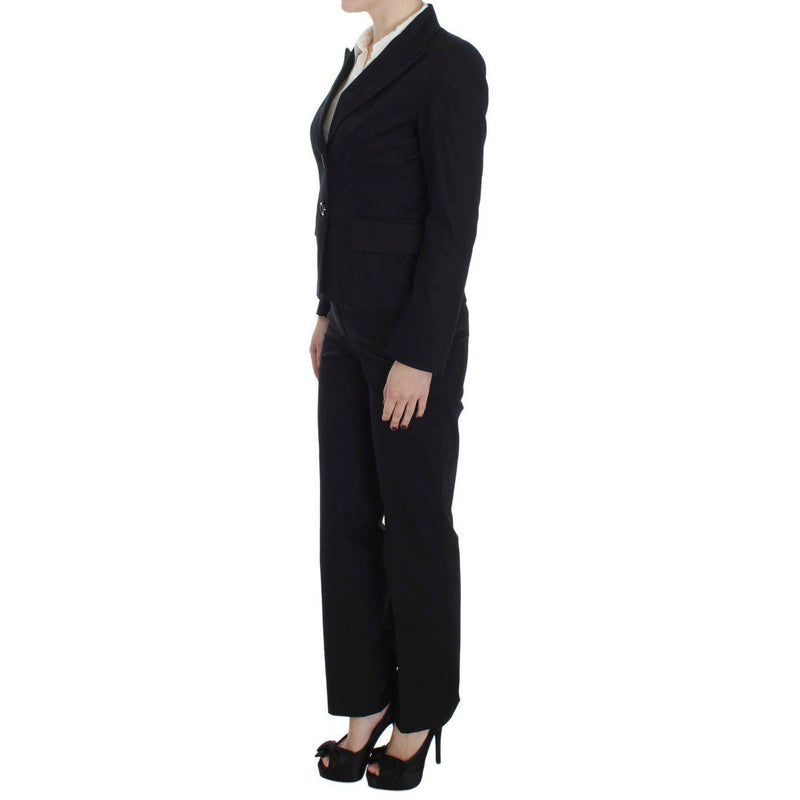 Black Cotton Stretch Suit BENCIVENGA