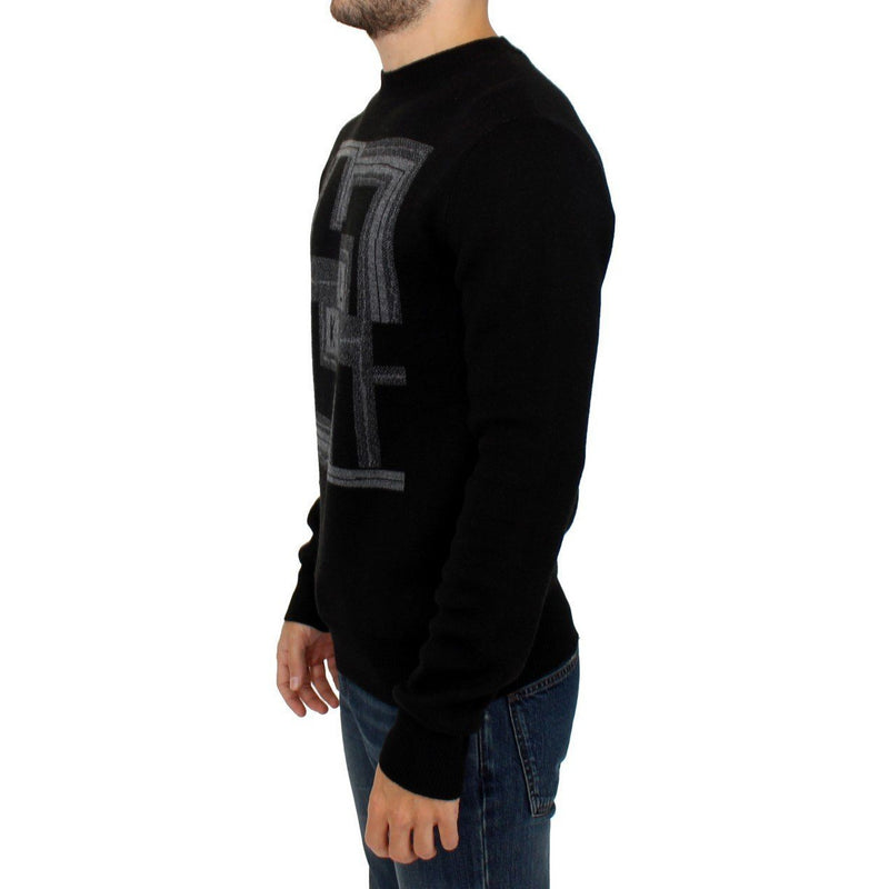 Black Knitted Wool Sweater Karl Lagerfeld