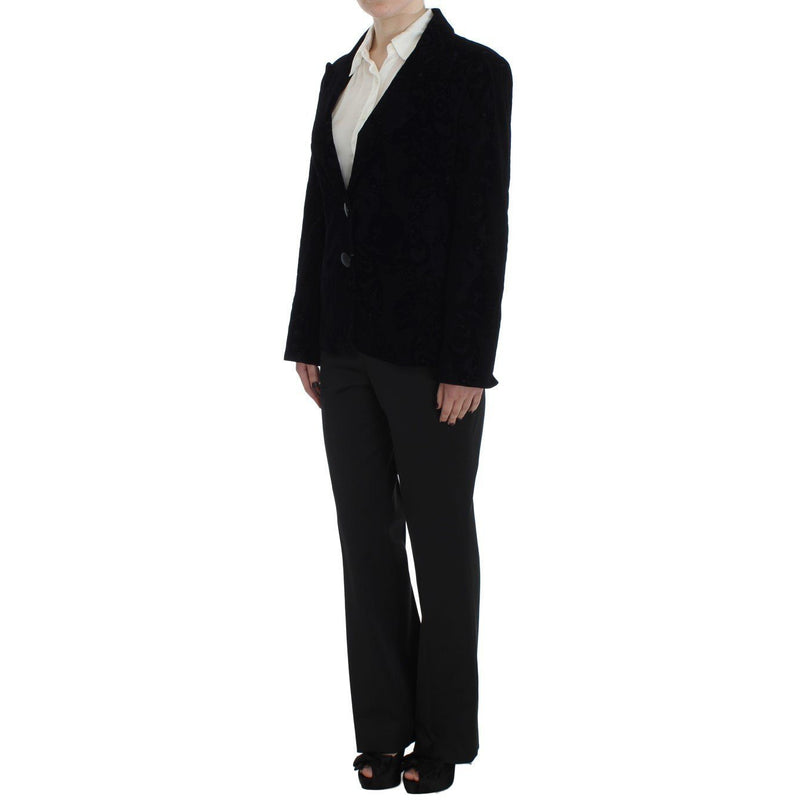 Black Lace Stretch Suit BENCIVENGA