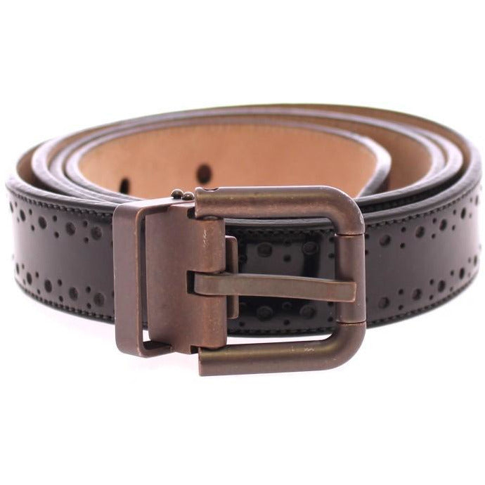 Black Leather Logo Belt Dolce & Gabbana
