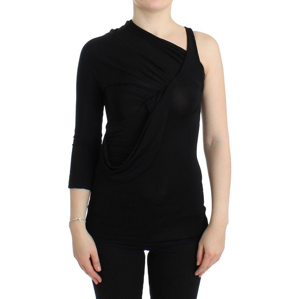 Black One Sleeve Top Cavalli