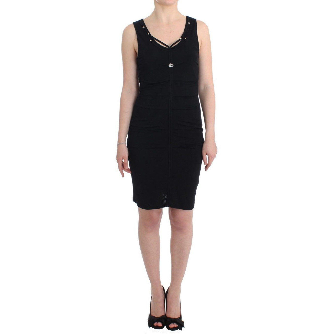 Black Pencil Sheath Dress Roccobarocco
