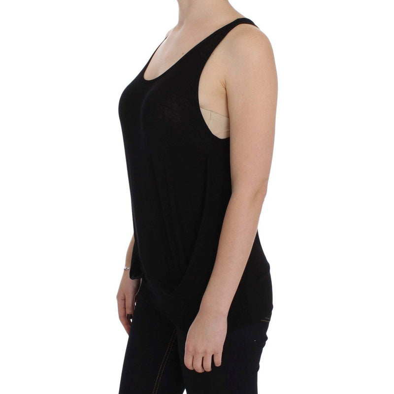 Black Stretch Sleeveless Blouse PLEIN SUD