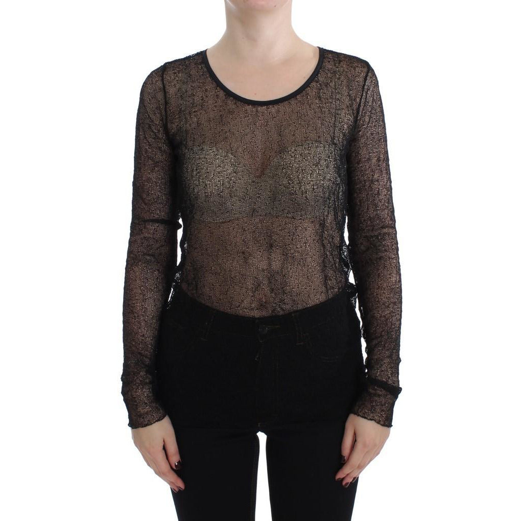 Black Transparent Blouse Top PLEIN SUD