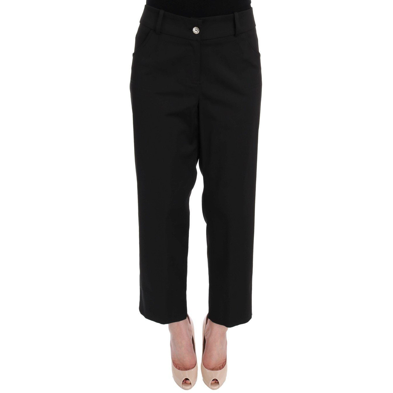Black Wool Capri Dress Pants BENCIVENGA