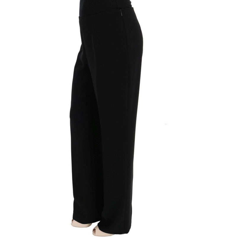 Black Wool Straight Fit Dress Pants BENCIVENGA