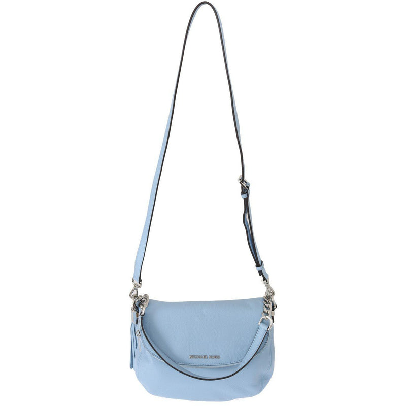 Blue BEDFORD Pebbled Leather Shoulder Bag Michael Kors
