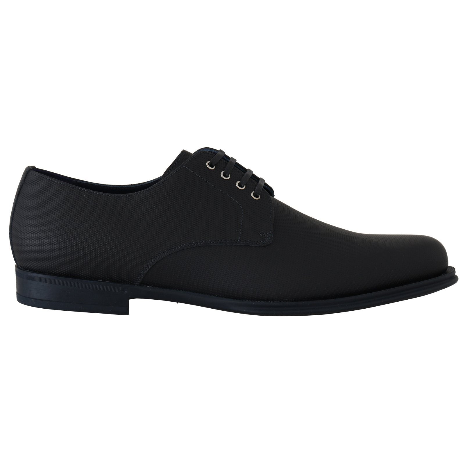 Blue Leather Derby Dress Formal Shoes Dolce & Gabbana