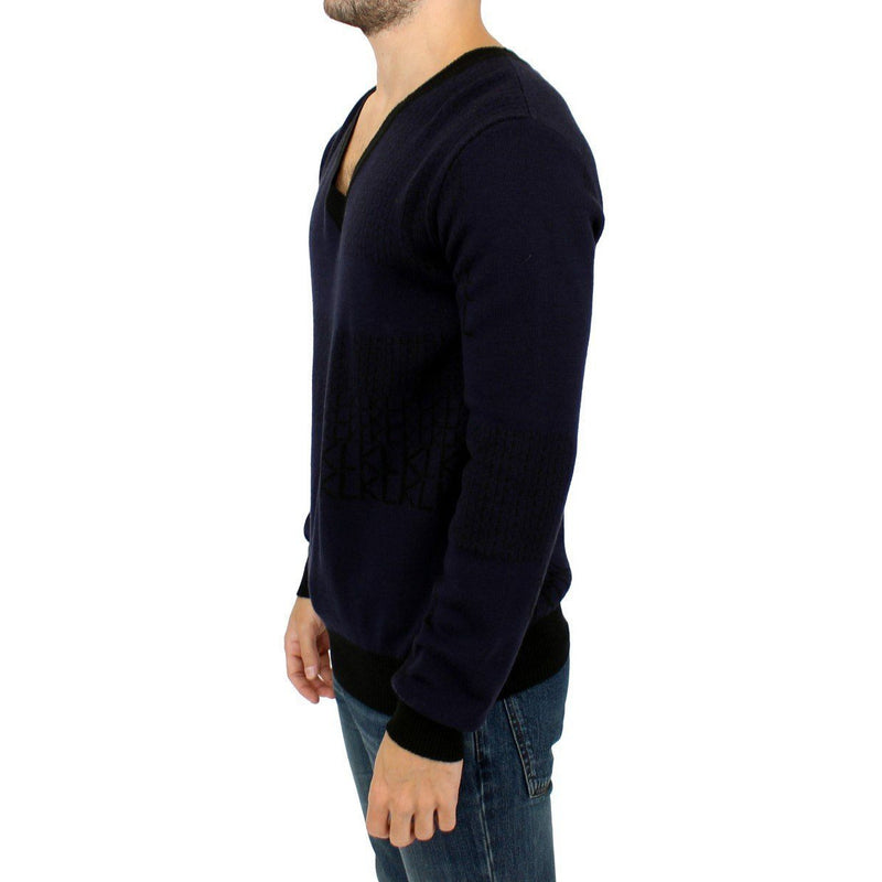 Blue v-neck pullover sweater Karl Lagerfeld