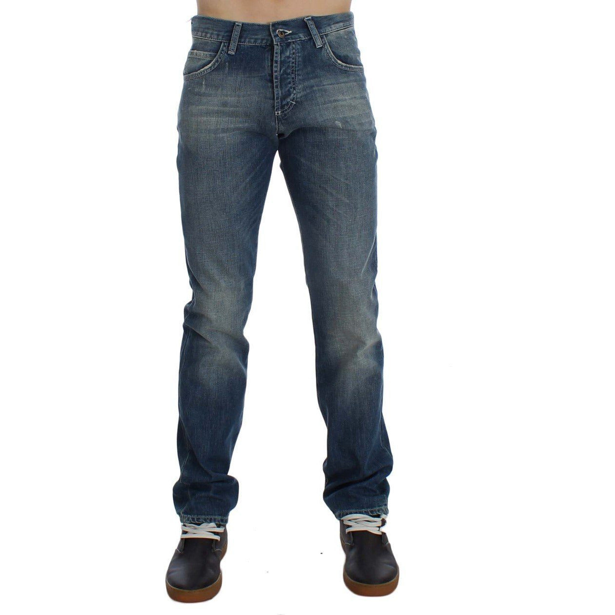 Blue Wash Cotton Regular Fit Jeans EXTE