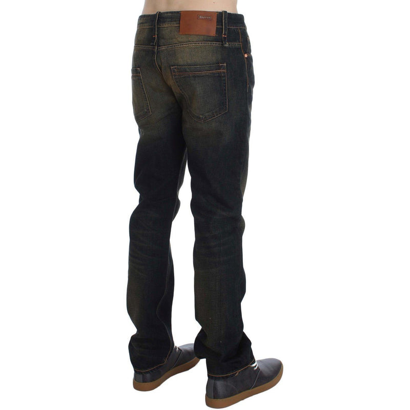Blue Wash Cotton Regular Straight Fit Jeans ACHT