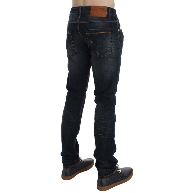 Blue Wash Cotton Stretch Slim Skinny Fit Jeans ACHT