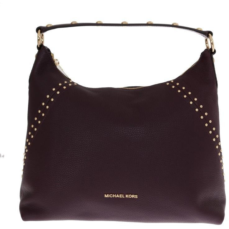 Bordeaux ARIA Leather Shoulder Bag Michael Kors