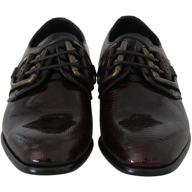 Bordeaux Leather Derby Dress Formal Shoes Dolce & Gabbana