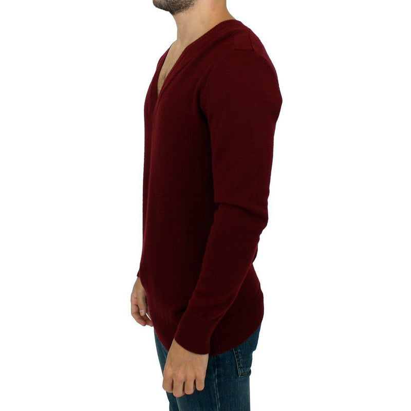 Bordeaux v-neck pullover sweater Karl Lagerfeld