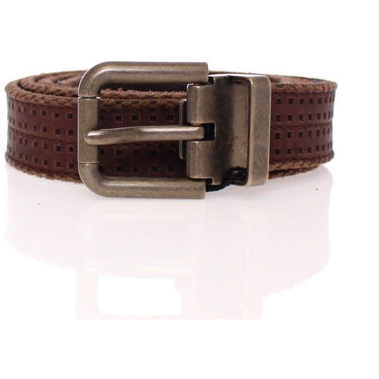 Brown Leather Logo Belt Dolce & Gabbana