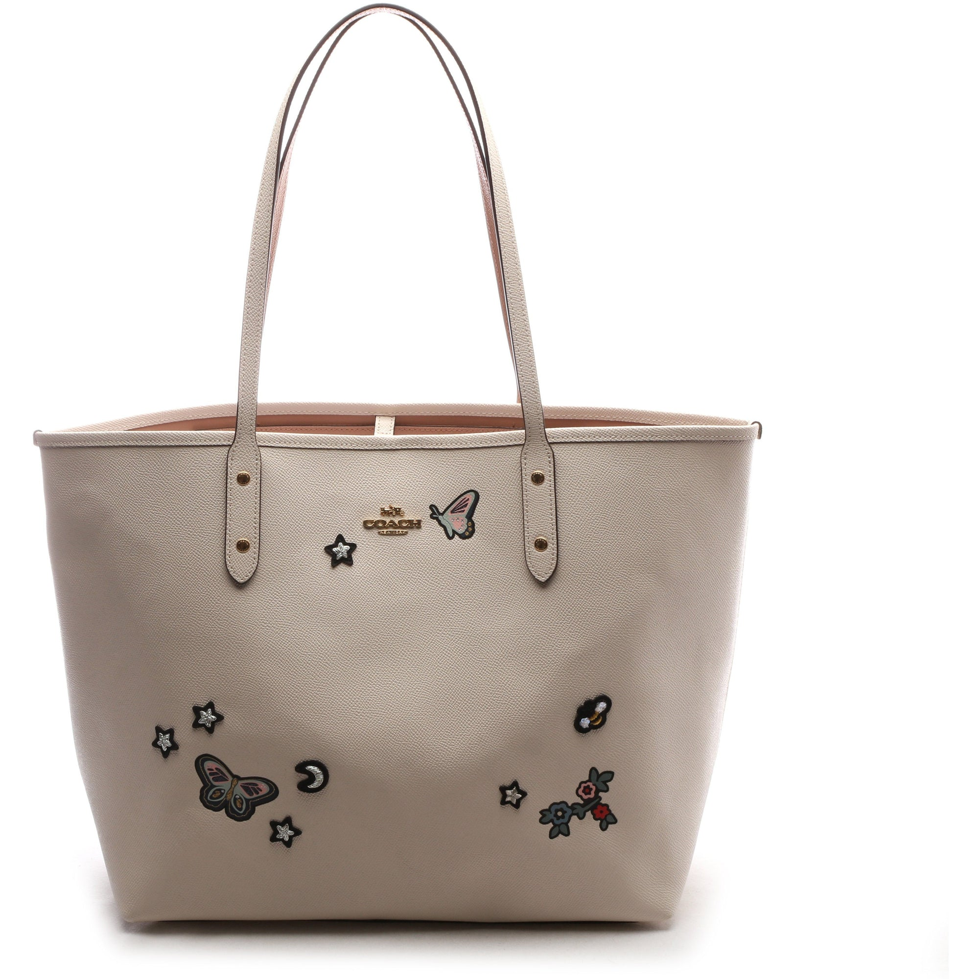 Coach City Tote With Souvenir Embroidery Leather Bag HANDBAG Coach