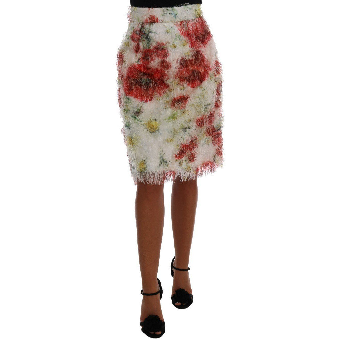 Floral Patterned Pencil Straight Skirt Dolce & Gabbana