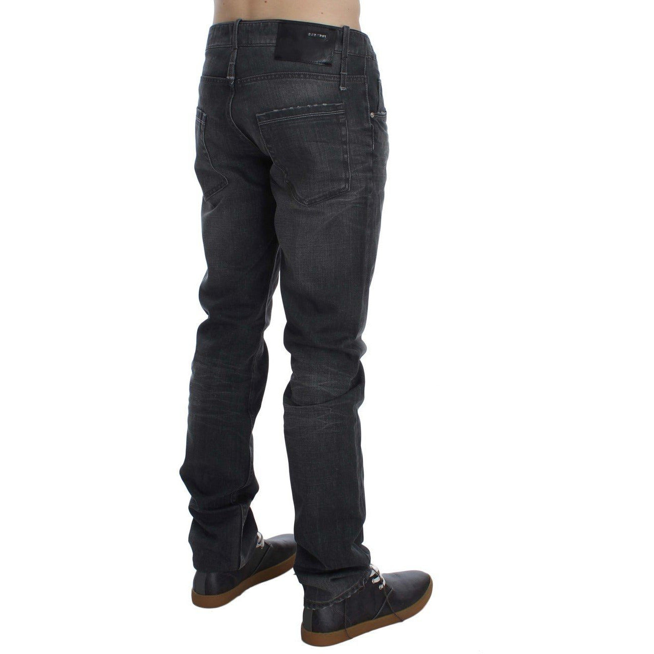 Gray Cotton Regular Low Fit Jeans ACHT