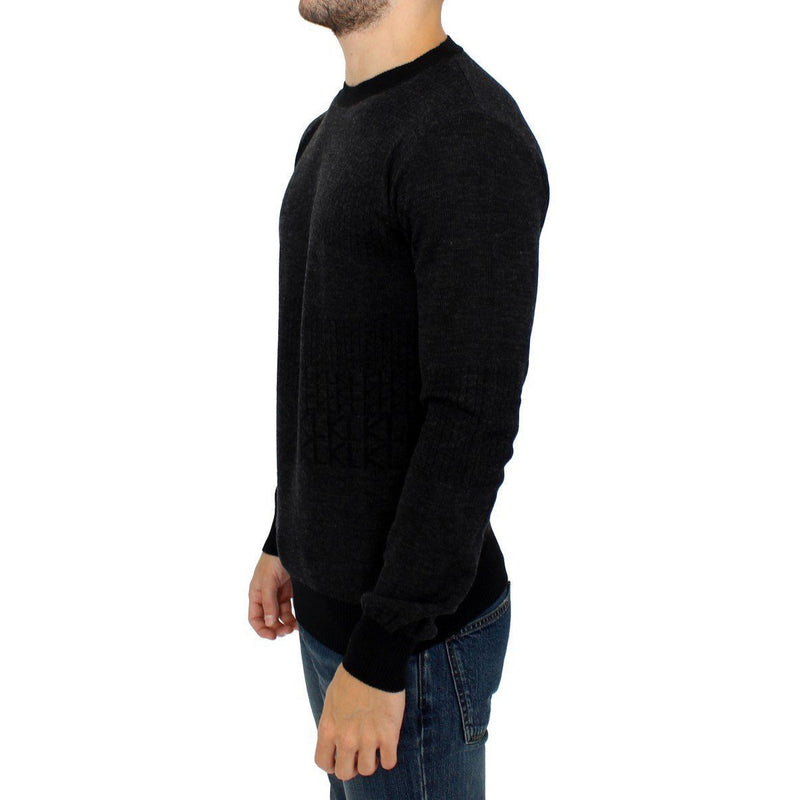 Gray crew-neck pullover sweater Karl Lagerfeld