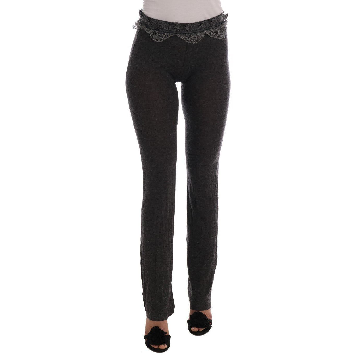 Gray Wool Stretch Pants Ermanno Scervino