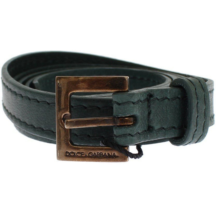 Green Leather Belt Dolce & Gabbana