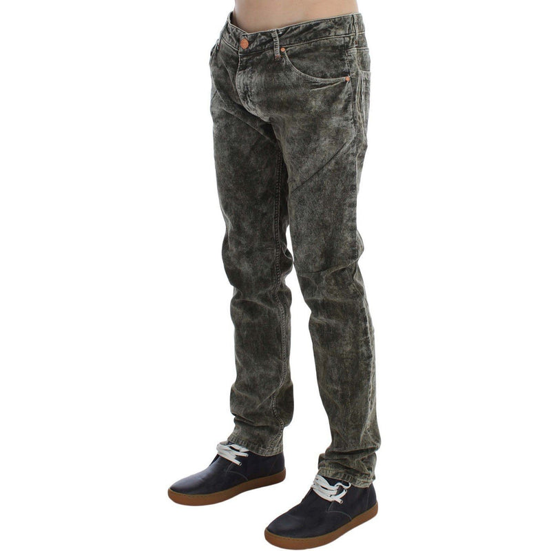 Green Wash Cotton Stretch Slim Fit Jeans ACHT