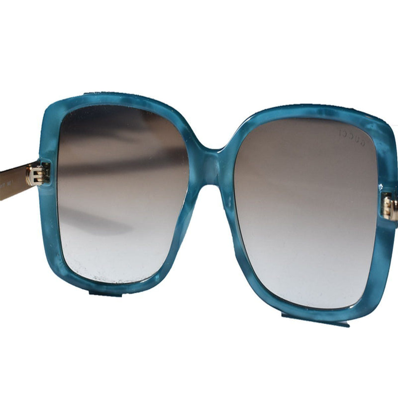 Gucci Classic Turquiose Gg Turquoise/Gold Luxury Sunglasses 3857/F/S Sunglasses Gucci