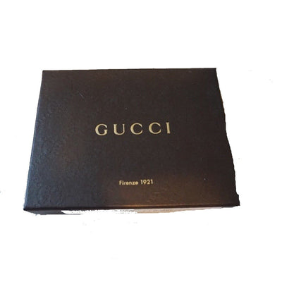 Gucci Men's Chocolate Leather Embossed Logo Tri-fold Billfold Wallet 217044