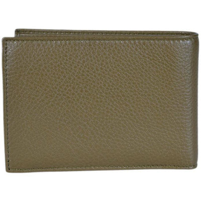Gucci Men's Moon Leather Bifold Billfold Wallet Classic Olive Green 260987
