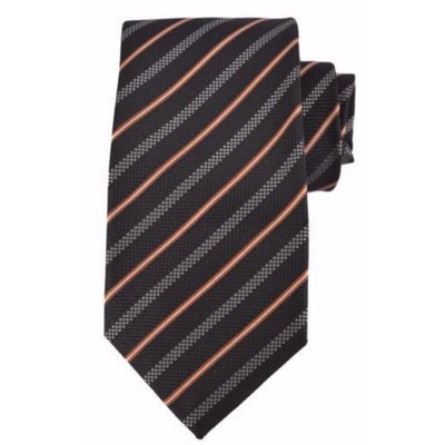 Gucci Men's Black and Beige Striped Necktie 349389 Neckties Gucci