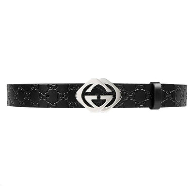 Gucci Men's Black Guccissima Belt 182320 Size: 105/42 Belts Gucci