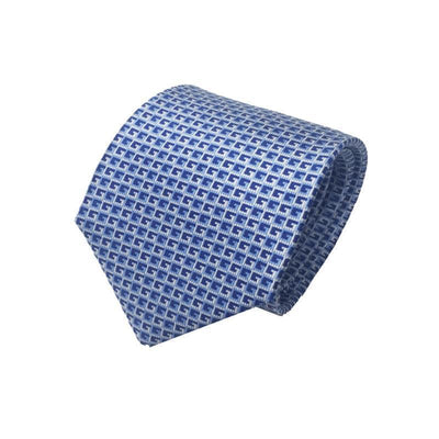 Gucci Men's Classic Blue Geometric Pattern Necktie Woven Silk Luxury Tie 349407 Neckties Gucci