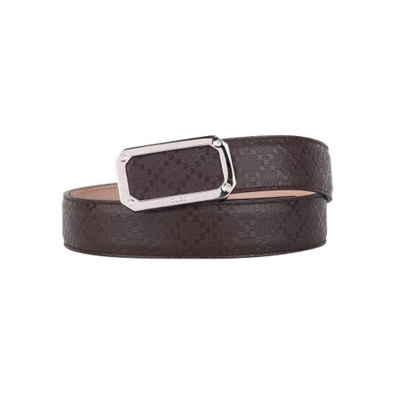 Gucci Men's Dark Brown Hilary Lux Diamante Belt 162946 Size: 34 - 85 Belts Gucci